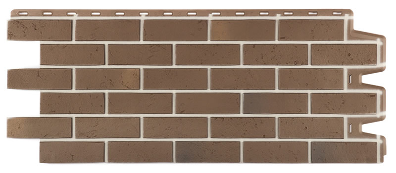 Цокольный сайдинг Docke-R Berg коричневый