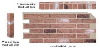 Цокольный сайдинг Nailite серии Hand-Laid Brick